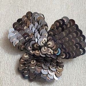 LOFT Grey Sequin Pin Brooch #451
